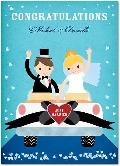 Auguri Sposi Biglietti Matrimonio Biglietto Di Auguri Per Gli Sposi Con La Scritta Just Marri Biglietto Di Congratulazioni Biglietti Di Nozze Congratulations