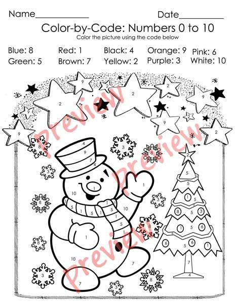 Christmas Color By Code Christmas Coloring Pages Numbers 1 10 Activities Christmas Coloring Pages Free Christmas Coloring Pages Merry Christmas Coloring Pages