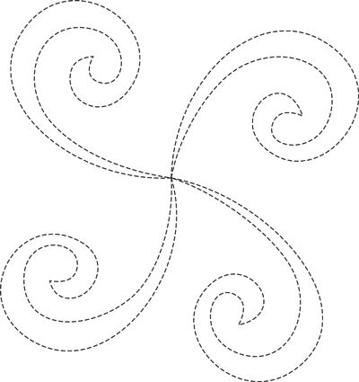 Swirly Q is Quiltmaker's free Motif of the Month at quiltmaker.com. Enjoy—it's on us!