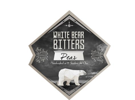 White Bear Bitters on Behance - I did this label for the Bitters we're making this year!