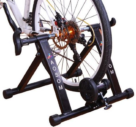 Frugah New Indoor Steel Bike Bicycle Exercise Magnet Trainer Stand