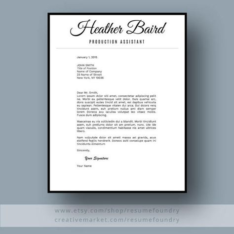 Bold and Modern Resume Template for Word, 1-3 Page Resume + ...