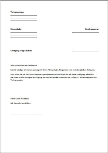 Handyvertrag Kundigung Pdf Vorlage Download Chip