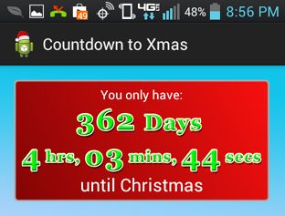 Christmas Countdown Widget.How Many Shopping Days Are Left Until Christmas Here Is My