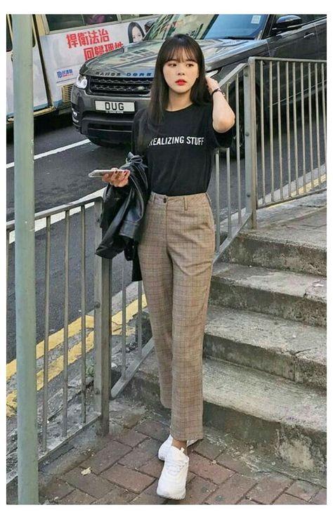 korean fashion casual simple