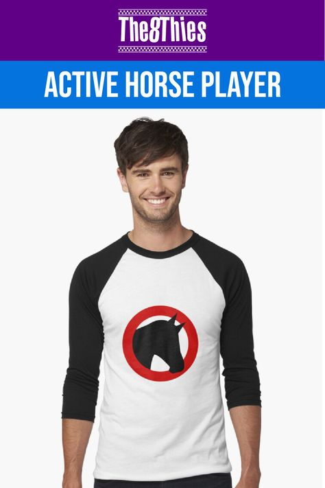 Hitting the horserace track is quite lonely sometimes but it is a thrill and a good way to let the time pass by and having fun by yourself. But do not feel alone by wearing this simple horse logo. Who knows, your next bet might win you some money.