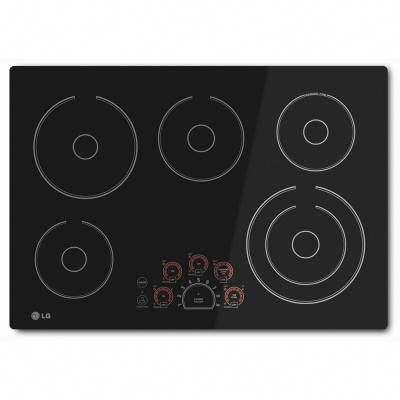 Lg Electronics 30 In Smooth Surface Electric Cooktop In Black