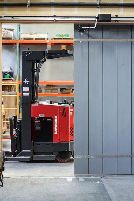The Edison Motor Travels Quietly Along A Horizontal Track Garage Door Opener Garage Door Slid Sliding Garage Doors Automatic Sliding Doors Garage Door Types