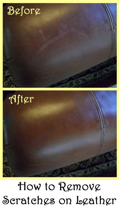 Removing Scratches from leather.