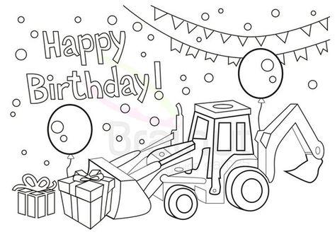 Happy Birthday Catcupcake Happy Birthday Coloring Pages