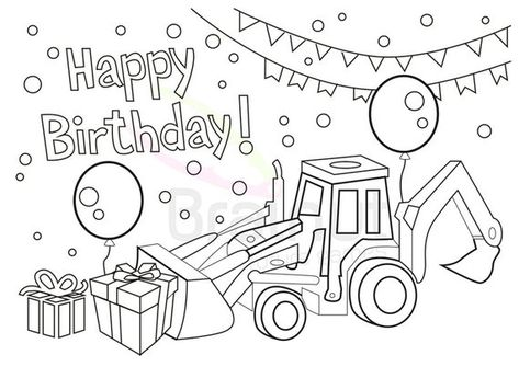 Birthday Coloring Pages Love Happy Birthday Color Pages