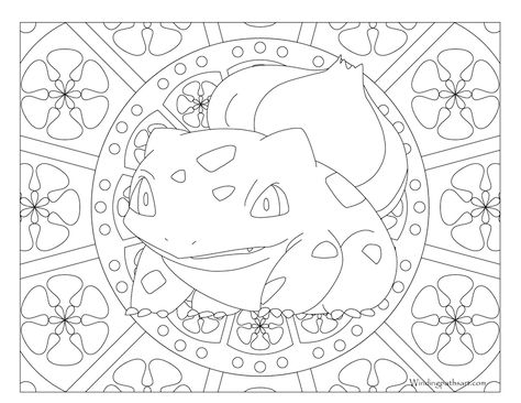 001 Bulbasaur Pokemon Coloring Page Coloriage Pokemon Pages De