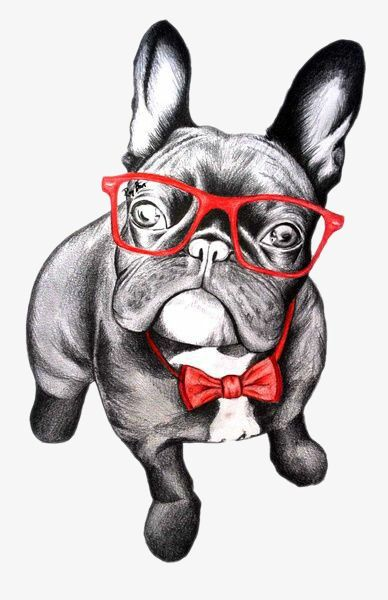 Dog With Glasses Hand Painted Cartoon Wear Glasses Dog Png Transparent Clipart Image And Psd File For Free Download Happy Dog Art Dog Print Art Dog Art