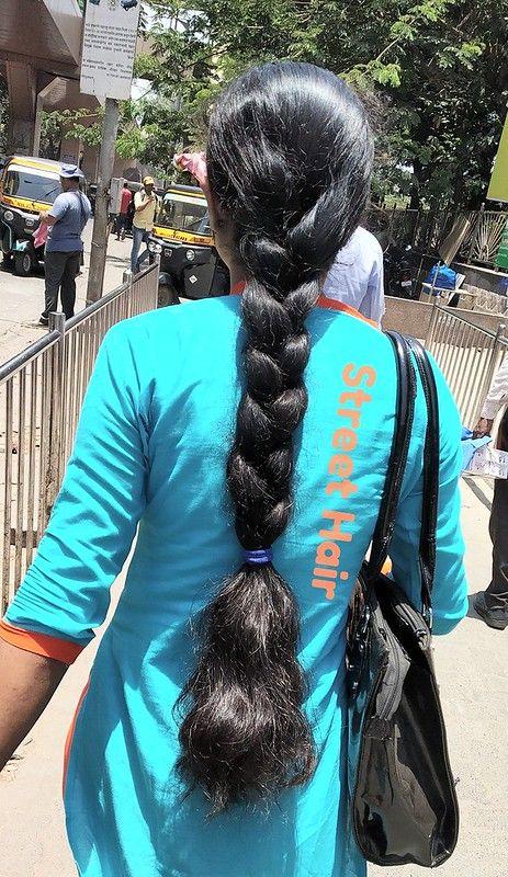 Thick Hair Braid In 2020 Braided Hairstyles Long Indian Hair Long Silky Hair