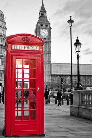 Red phone booth in London with the Big Ben in black and white Wall Mural . Red phone booth i Big Ben London, London England, The Places Youll Go, Cool Places To Visit, Photography Tips, Travel Photography, Poster Photography, London Photography, Iphone Photography
