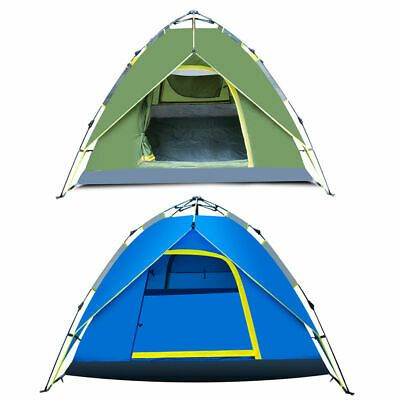 Waterproof Camping Tent Automatic Hydraulic Dome Canopy Hiking 3 Person new