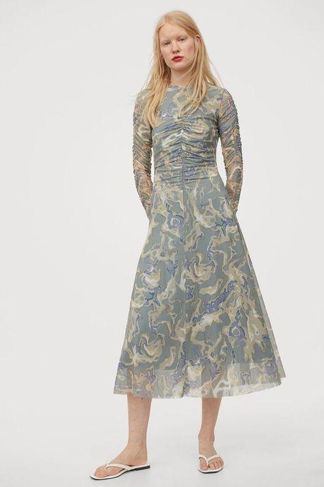 HM Draped Mesh Dress