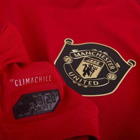 2019 20 Adidas Manchester United Home Authentic Jersey Desain Logo Desain