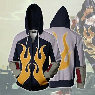 Details About Game Tekken 4 Jin Hoodie Cosplay Costumes Men S