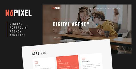 NoPixel — Digital Portfolio and Agency Template   Stylelib