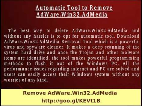 If you are completely fed up with the existence of AdWare.Win32.AdMedia and wants to protect your PC then make use of AdWare.Win32.AdMedia Removal Tool which have ability to remove its existence by scanning the PC internally. So download the software without making any delay.