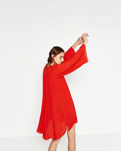 nuevo estilo de vida venta de descuento bien fuera x Imagen 6 de VESTIDO PLISADO de Zara   vestidos cortos ...