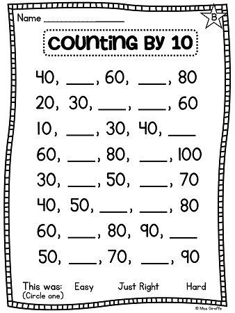 Count Snowflakes By 10s Counting Kindergarten Math For Kids Free Kindergarten Worksheets