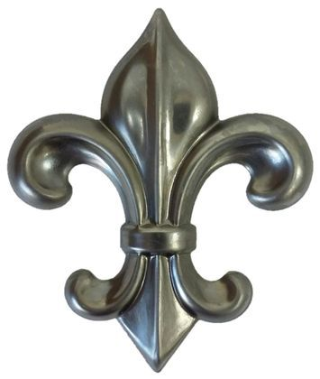 Approx Size 3 1 8 W X 3 3 4 H X 5 16 Depth Metal Stamping M80 Fleur De Lis Steel Color Hollowed Out Backside Approx 020 Metal Stamping Metal Fleur De Lis