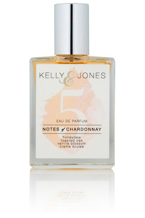 Kelly & Jones #5: Notes of Chardonnay. A truly seductive blend of honeydew melon and vanilla blossom, all rounded out on a base of luscious creme brulee. Like the toasted oak of a wine barrel.