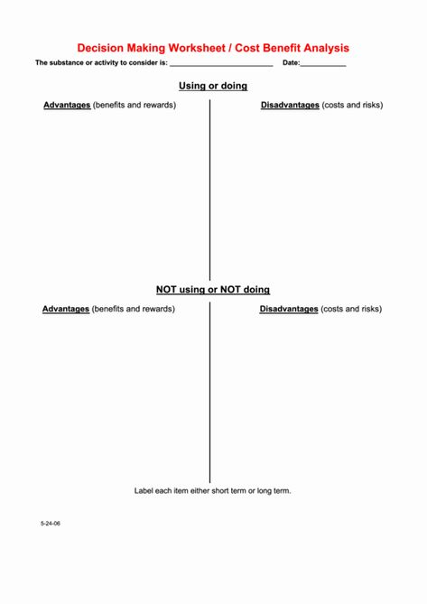 50 Cost Benefit Analysis Worksheet In 2020 Word Problem