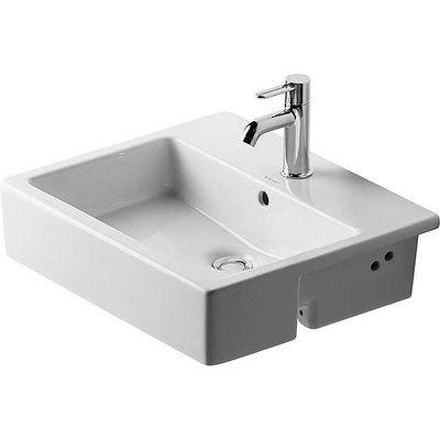 Duravit Vero Ceramic Rectangular Drop In Bathroom Sink With