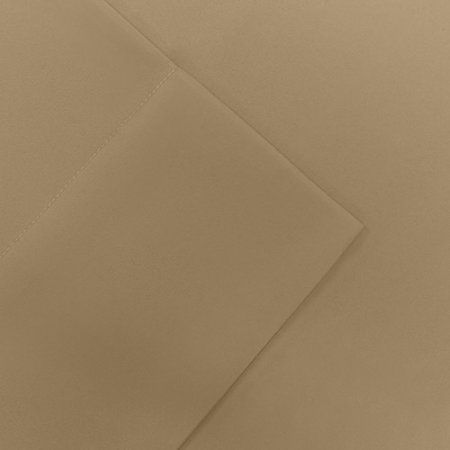 Comfort Classics Solid Micro Splendor Bedding Sheet Set, Beige