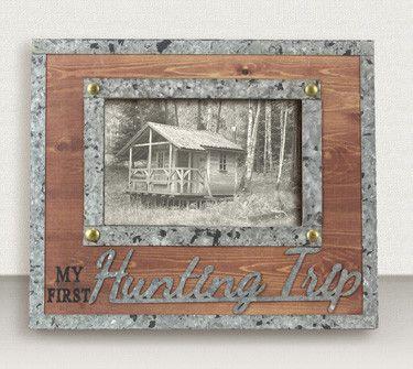 My First Hunting Trip Wood & Metal Photo Frame | Metal photo frames ...