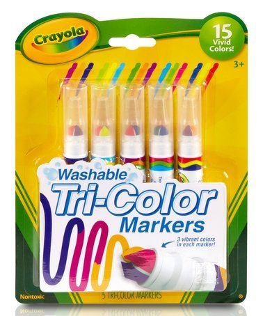 Washable Tri Color Marker Set Zulily Zulilyfinds Coloring