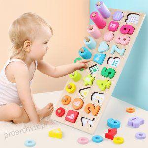 Przedszkole Montessori Drewniane Zabawki Edukacyjne Pomoce Nauczycielskie Nauki Materialy Montessori Drewniane Montesso Math Toys Montessori Toys Learning Toys