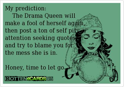78b94dff17f35ba99a5ded8e76e84075 attention seekers quotes seeking attention quotes my prediction the drama queen will make a fool of herself again,Self Pity Meme