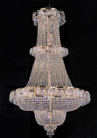 FRENCH EMPIRE CRYSTAL CHANDELIER CHANDELIERS H50 x W30 PERFECT FOR AN ENTRYWAY OR FOYER!