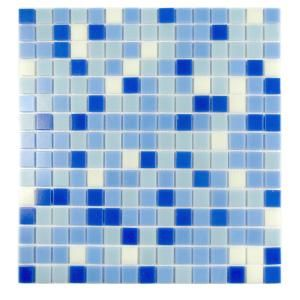 Abolos Swimming Pool Blizzard Blue Square Mosaic 1 In X 1 In Glass Wall Pool And Floor Tile 1 15 Sq Ft Hmdsps3434 Bb The Home Depot Glass Mosaic Tiles Mosaic Tiles Wall Tiles