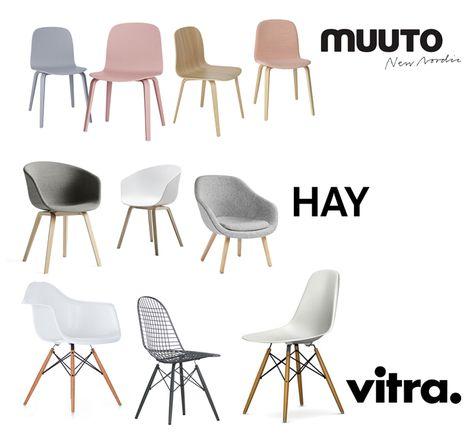 Dining Chairs Roundtable - Hay.Vitra.Muuto.