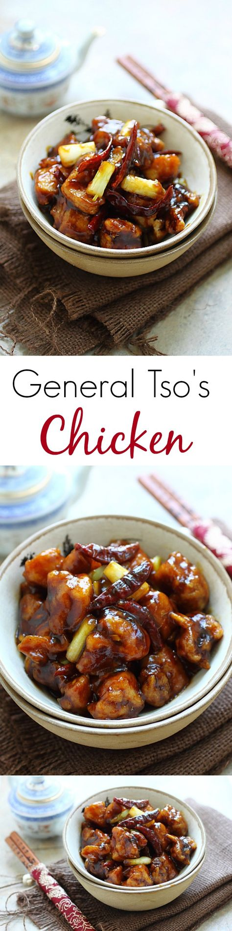 China - General Tso's chicken – BEST and easiest homemade General Tso's Chicken ever. Crazy delicious and a zillion times healthier and better than takeout!!   rasamalaysia.com