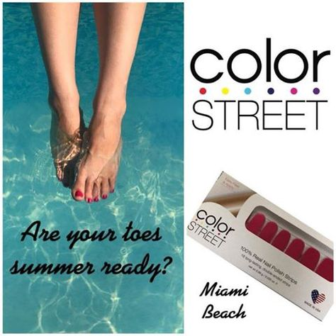 Get a brilliant, salon quality pedicure in minutes with Color Street nail polish strips! Get a brilliant, salon quality pedicure in minutes with Color Street nail polish strips!