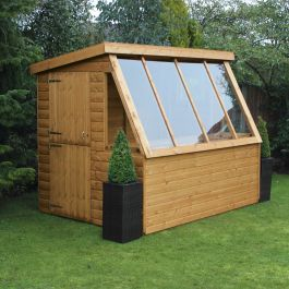 10 X 6 Traditional Wooden Garden Potting Shed With 6 Gable 3 05m X 1 83m Backyard Sheds Garden Sheds For Sale Wooden Garden