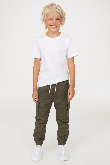 Jersey-lined cargo trousers Model