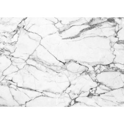 Morgan Home White And Grey Marble 18 In W X 13 In L Polypropylene Placemat Set 4 Pack The Wall Murals Marble Wall Marble Wall Mural