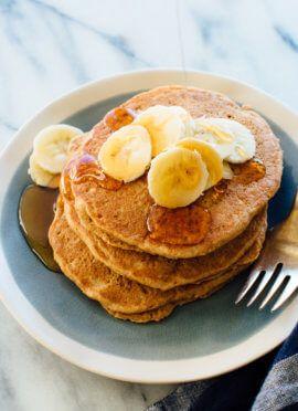 Super Simple Vegan Pancakes Cookie And Kate Recipe Whole Wheat Pancakes Wheat Pancakes Wheat Pancake Mix