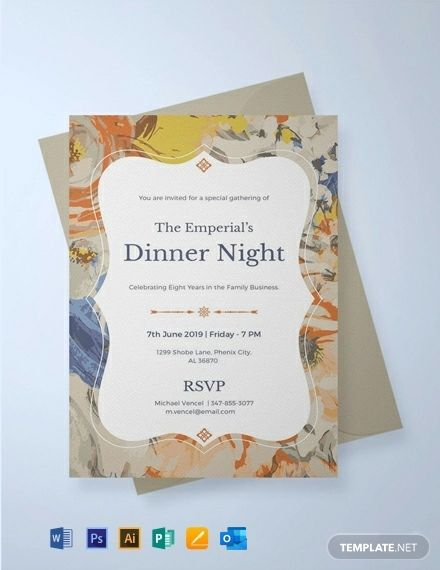 Instantly Download Free Formal Dinner Invitation Template Sample Example In Microsoft W Invitation Template Party Invite Template Event Invitation Templates