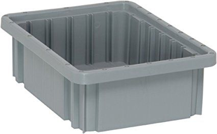 Quantum Storage Systems Dg91035gy Dividable Grid Container 10 7 8 Inch Long By 8 1 4 Inch Wide By 3 1 2 Inch High Gray Storage System Storage Plastic Pallets