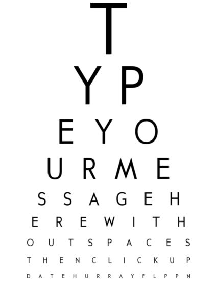 Custom Eye Chart Maker Kindergarten Doctors Office Pinterest