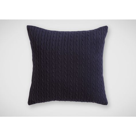 Ethan Allen Navy Cable Knit Pillow 40 CNY Liked On Polyvore Beauteous Ethan Allen Decorative Pillows