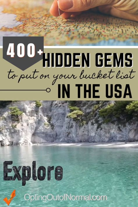 If you're looking for the perfect vacation destination, check out our list of over 400 things to do in the USA. We've gone deep into every state to find the hidden treasures you shouldn't miss. Take the roads less traveled on your next bucket list road trip, and find the off the beaten path locations you'll love! Travel and explore the amazing adventures and hidden secrets across the United States. Plus you'll find a list of free places to camp in every state #travel #usatravel #videopin #rvlife